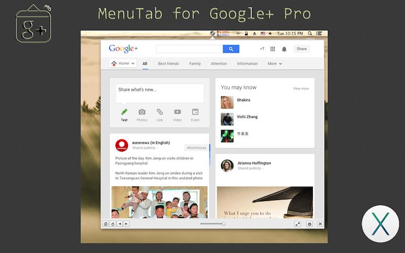 menutab for google+ pro copy